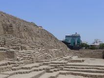 Alte Pyramide Huaca Pucllana bei Miraflores, Lima Stockfotografie