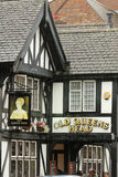 Alte Queens-Kopf-Kneipe. Chester. England Stockfoto
