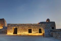 Alte Räume im zweiten Niveau von Bahrain-Fort Stockbilder