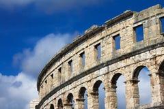 Alte römische Arena lizenzfreies stockfoto