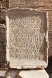 Alte römische Aufschrift Stockfotos