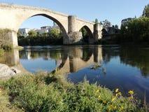 Alte römische Brücke lizenzfreie stockfotos