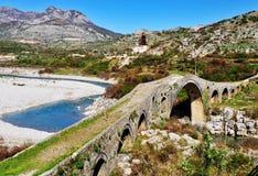 Alte römische Brücke in Albanien Lizenzfreies Stockbild
