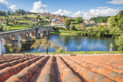 Alte römische Brücke in Ponte DA Barca Stockfotos