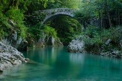 Alte römische Brücke in Slowenien Stockfoto