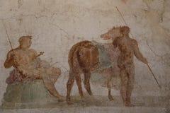 Alte römische Freskomalerei lizenzfreies stockbild