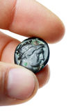 Alte römische Münze Stockbild