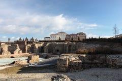 Alte römische Ruinen Venaria Turin - Italiens im Dezember 2011 und Royal Palace von Venaria UNESCO-Erbe Lizenzfreies Stockfoto