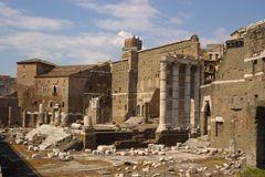 Alte römische ruines Lizenzfreies Stockbild