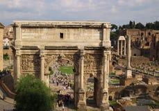 Alte römische ruines Stockbild