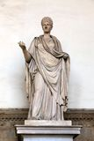 Alte römische Skulptur einer Vestal-Jungfrau Lizenzfreie Stockfotos