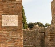 Alte römische Straße Lizenzfreie Stockfotografie
