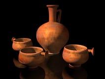 Alte römische Tonwaren Stockfotos