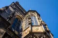 Alte Rathausdetails Lizenzfreie Stockfotografie
