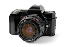 Alte Reflexkamera Lizenzfreie Stockfotografie