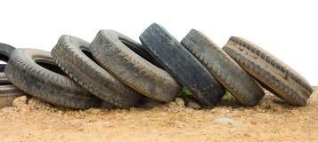 Alte Reifen aus den Grund Lizenzfreie Stockbilder