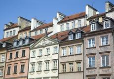 Alte Reihenhäuser Warschaus Lizenzfreie Stockfotos