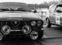 Alte Rennwagensammlung AR ALFETTA GTV 1983 DIE LEGENDE 2017 das berühmte historische Merinorennen SANS Lizenzfreie Stockfotografie