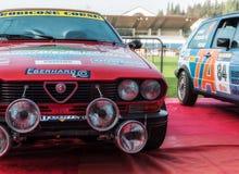 Alte Rennwagensammlung AR ALFETTA GTV 1983 DIE LEGENDE 2017 das berühmte historische Merinorennen SANS Lizenzfreie Stockfotos