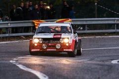 Alte Rennwagensammlung FIATS 131 ABARTH 1977 Lizenzfreie Stockfotografie