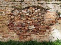 Alte reparierte Wand Stockfotografie