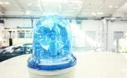Alte Retro- blaue Polizei beleuchtet Stockbild