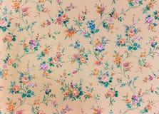 Alte Retro- Blumentapete, Hintergrund, backgroun Stockbild
