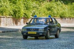 Alte Retro- nehmende Teilnahme Auto VOLVOS AMAZONAS 121 am Rennen Löwe Stockbild