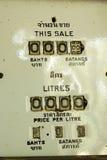 Alte Retro- Weinlese der Benzinpumpe Stockbilder