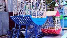 Alte Riesenrad herein das Festival im Sommer stock video