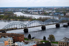 Alte Riga-Stadt, Lettland Stockfotografie