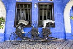 Alte Rikschas in Penang Stockfotos