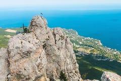 Alte rocce Ai-Pétri delle montagne della Crimea Immagine Stock