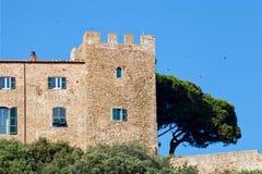 Alte Rocchette-Festung, Italien Stockfotografie