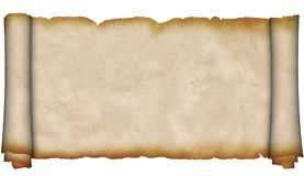 Alte Rolle des Pergaments. Stockbild