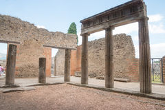 Alte Roman Pompei-Ruinen Stockbild