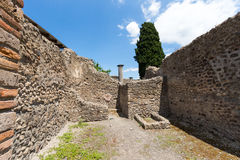 Alte Roman Pompei-Ruinen Stockfotografie