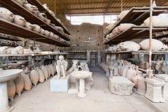 Alte Roman Pompei-Ruinen Lizenzfreie Stockbilder