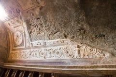 Alte Roman Pompei-Ruinen Stock Photos