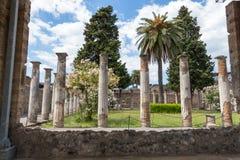 Alte Roman Pompei-Ruinen stock image