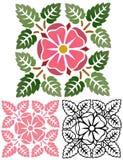 Alte Rose Decorative Element Stockbilder