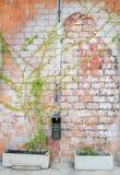 Alte rostige Backsteinmauerbeschaffenheit Lizenzfreie Stockbilder