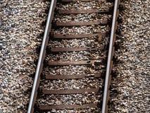 Alte rostige Bahngleise Stockfotografie