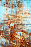 Alte rostige blaue Wand Lizenzfreie Stockfotografie