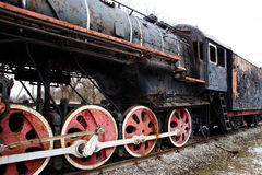 Alte rostige Dampflokomotive Stockbild