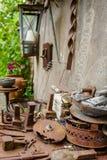 Alte rostige Eisenmaterialien benutzt für Dekoration Stockfotos