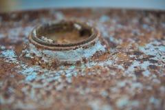 Alte rostige galvanisierte Eisenblätter und schmutzig Hintergrund Stockbild