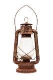 Alte rostige Lampe Alte Laterne, lokalisiert auf weißem Hintergrund Stockbilder