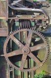Alte rostige Maschinerie Stockfoto
