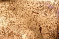 Alte rostige Metallbeschaffenheit mit Kratzern und Punkten Stockfoto